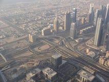 Infrastructure, Dubai. Infrastructure from the Burj Khalifa Observation Deck, Dubai Stock Photography