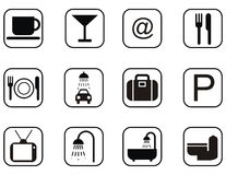 Infrastructure icon set Stock Photography