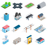 Infrastructure icons set, isometric 3d style Royalty Free Stock Images