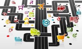 Infrastructure logistique illustration libre de droits