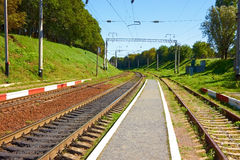 Infrastructure near railway station Stock Images