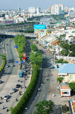 Infrastructure, overpass, traffic, intersection, city Royalty Free Stock Photography