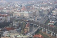 Infrastructure_Prague de uma comunicação imagens de stock