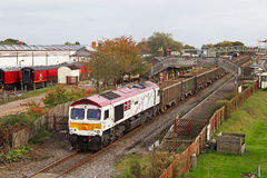 Infrastructure spoil train Royalty Free Stock Photos
