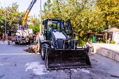 Infrastruktur arbetar i turkisk stad Royaltyfri Bild