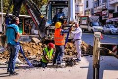 Infrastruktur arbetar i turkisk stad Royaltyfria Foton