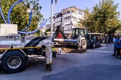 Infrastruktur arbetar i turkisk stad Royaltyfria Bilder