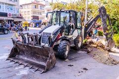 Infrastruktur arbetar i turkisk stad Royaltyfri Fotografi