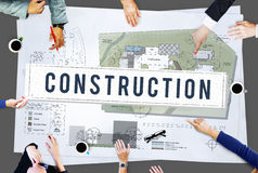 Infrastruktur Conce för arkitektur för byggnad för konstruktionsbransch arkivfoton