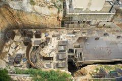 Infrastruktur i en konstruktionsplats Arkivfoto