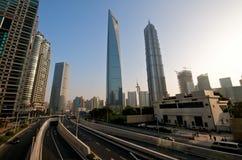 infrastruktur moderna shanghai Arkivbild
