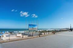 Infrastruktur på kusten av Marocko Royaltyfria Bilder