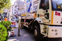 Infrastruktur pracy W Tureckim miasteczku Zdjęcia Stock