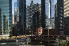 Infrastruktur und Architektur von Chicago im Stadtzentrum gelegen Stockfoto
