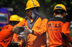 Infrastruktura gazu Bumi di Semarang Zdjęcie Stock