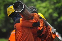 Infrastruktura gazu Bumi di Semarang Obraz Royalty Free