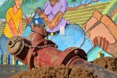 Infrastrukturuppdateringar i Detroit& x27; östlig marknad för s Royaltyfri Bild