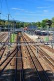 infrastruktury linia kolejowa Zdjęcia Royalty Free