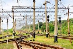 infrastruktury linia kolejowa Zdjęcie Stock