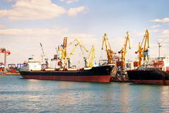 infrastruktury port morski Zdjęcia Royalty Free