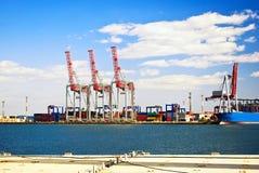 Infrastruttura del porto marittimo. fotografie stock libere da diritti