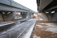 Infrastruttura della linea tranviaria Fotografia Stock