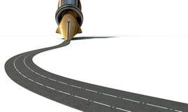 Infrastruttura Pen And Road Fotografia Stock