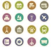 Infrastucture dos ícones da cidade ajustados Fotografia de Stock Royalty Free