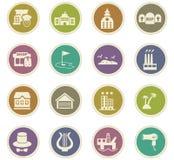 Infrastucture dos ícones da cidade ajustados Fotos de Stock Royalty Free
