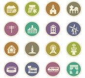 Infrastucture dos ícones da cidade ajustados Imagens de Stock Royalty Free
