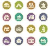 Infrastucture dos ícones da cidade ajustados Imagens de Stock