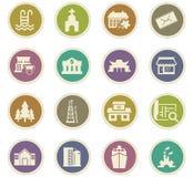 Infrastucture dos ícones da cidade ajustados Fotografia de Stock