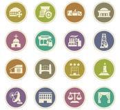 Infrastucture dos ícones da cidade ajustados Foto de Stock Royalty Free