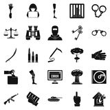 Infringement icons set, simple style Royalty Free Stock Image