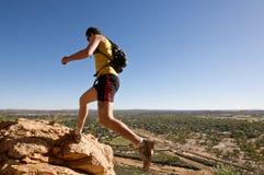 Infront di salto del maschio di Vista Fotografie Stock