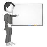 infront umano 3D di un Whiteboard Fotografia Stock Libera da Diritti