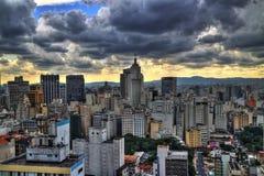 Infuri la venuta Orizzonte di Sao Paulo nel pomeriggio Immagine Stock Libera da Diritti