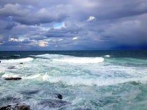 Infuri sul mare a Beirut, Libano Fotografie Stock