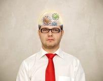 Infuriare del cervello Fotografie Stock Libere da Diritti