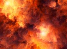 Infuriarsi di Red Storm Fotografia Stock Libera da Diritti