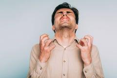 Infuriated rage anger man berserk fury emotion stock images