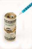 Infusão de dinheiro Fotografia de Stock