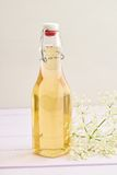 Infused elderflower syrup Stock Photos