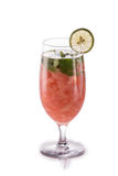 Infused fresh fruit water .isolated over white grapefruit, mint Royalty Free Stock Photos