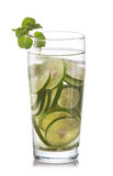 Infused fresh fruit water of lime. isolated over white Stock Image