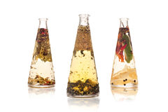 Infused oils stock images