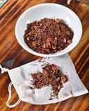 Infused rooibos tea. Strawberry kiwi infused rooibos tea on a tea bag Stock Photography