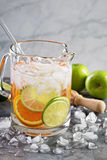Infused water with citrus fruits Royalty Free Stock Images