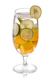 Infused water mix of lime and mango, isolated Royalty Free Stock Images