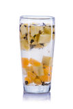 Infused water mix of orange, pineapple and green tea Stock Photo